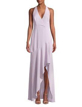 Obree Asymmetrical Halter Gown by Bcbgmaxazria