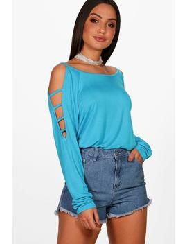 Ella Strappy Sleeve Loose Fit Top by Boohoo