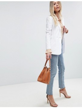 Asos Tailored Single Breasted Linen Blazer by Asos Collection