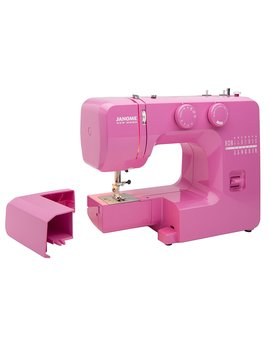 Janome Pink Sorbet Easy To Use Sewing Machine With Interior Metal Frame, Bobbin Diagram, Tutorial Videos, Made With Beginners In Mind! by Janome