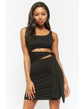 Pieced Waist Wrap Dress by Forever 21