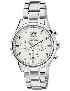 Seiko Chronograph Silver Dial Stainless Steel Mens Watch Spc079 by Seiko