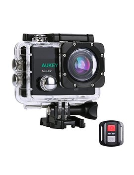 [Upgraded Version] Aukey Action Camera, 4 K Ultra Hd Waterproof Underwater Sports Camera With 170 Degree Wide Angle Lens, Wi Fi Phone Connection And 2.4 G Hz Remote by Aukey