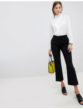 Asos Design Top With Ruched High Neck In White by Asos Design