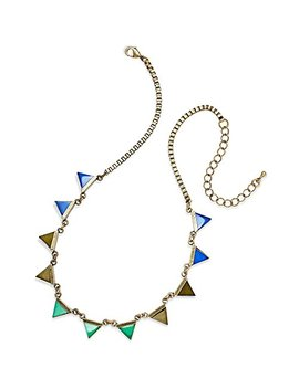 American Rag Necklace, 15 In Bronze Tone, Blue & Green Triangle Necklace by American Rag