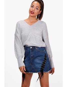 Sophie Fluffy Knitted Slouchy Jumper by Boohoo
