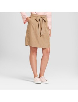 Women's Tie Waist Skirt   A New Day™ Brown by A New Day™