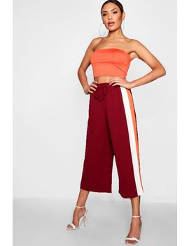 Emi Contrast Side Stripe Culotte by Boohoo