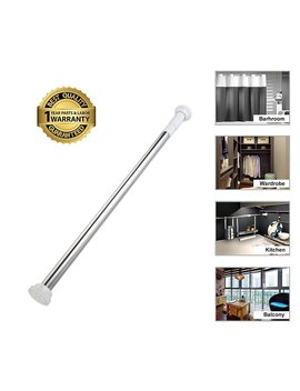 Tension Rod Curtain Shower Adjustable Rod Spring Tension Easy Installation 27inch 47inch by Beokreu