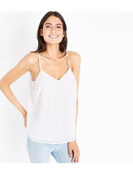 Off White Strappy Back Cami by New Look