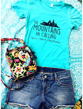 Disney Shirts Disney Tank Top Magic Kingdom Shirt The Mountains Are Calling Disney Shirt Magic Kingdom Shirts Disney Shirts Disney Tank Tops by Etsy