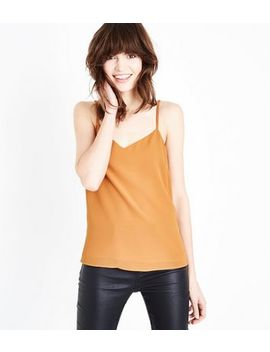 Mustard Strappy Back Cami by New Look