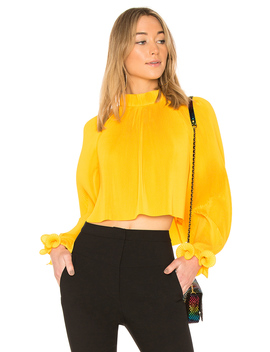 Pleated Crop Top by Tibi