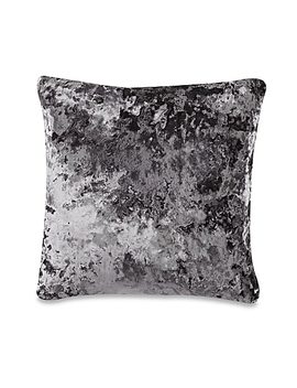 Crushed Velvet Square Throw Pillow In Charcoal by Bed Bath And Beyond