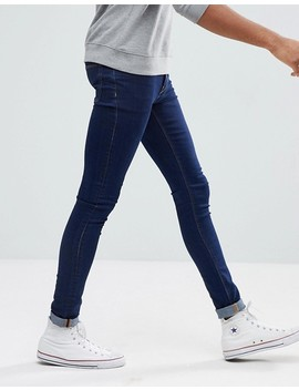 Asos Tall Extreme Super Skinny Jeans In Raw Blue by Asos