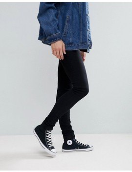 Asos Tall Extreme Super Skinny Jeans In Black by Asos