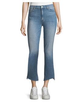 Insider Crop Frayed Step Hem Cropped Jeans by Mother