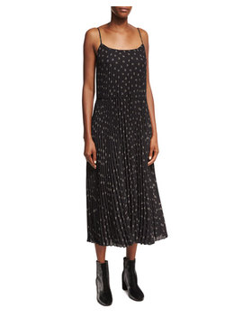 Tossed Ditsy Floral Pleated Cami Maxi Dress by Vince