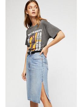 Side Slit Denim Skirt by Free People