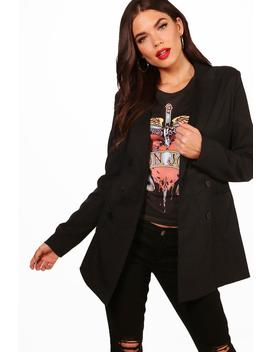 Tall Alaina Double Breasted Blazer by Boohoo