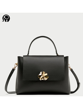 2018  Women Bag Lady Handbag Ol Style Shoulder Bag Casual Zipper Messenger Bag Pu Leather Handbag Metal Clasp Business Bag by Liannuo Bag Store
