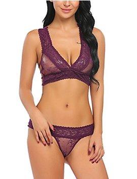 Avidlove Women Lace Lingerie Babydoll 2 Piece Sexy Bra And Panty Set by Avidlove