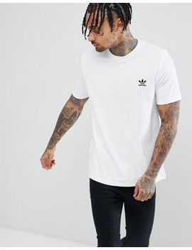 Adidas Originals Adicolor T Shirt With Embroided Logo In White Cw0712 by Adidas Originals