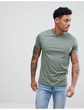 Lacoste Logo Crew Neck T Shirt In Khaki by Lacoste