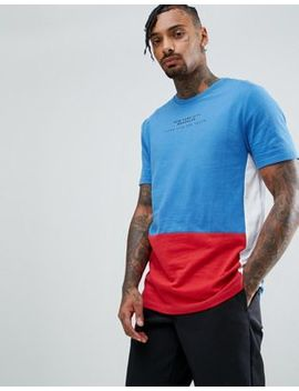Asos Longline T Shirt With Colour Block Panelling And City Tex by Asos