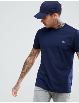 Lacoste Logo Crew Neck T Shirt In Navy by Lacoste