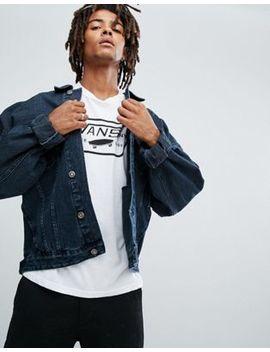 Asos Oversized Denim Jacket In Dark Wash by Asos