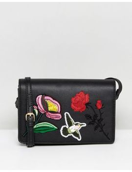 Liquorish Floral Embroidered Crossbody Bag by Liquorish