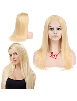 Nobel Hair # 613 Blonde Human Hair Wigs For Women With Baby Hair Straight Brazilian Virgin Human Hair Glueless Lace Wig(Lace Front Wig 12 Inch) by Nobel Hair