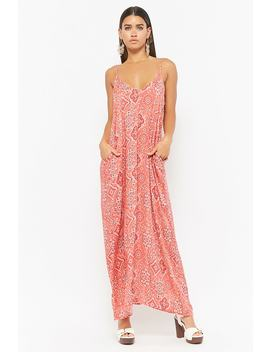 Paisley Print Maxi Dress by F21 Contemporary
