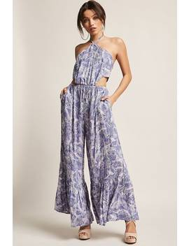Boho Me Cutout Halter Jumpsuit by F21 Contemporary