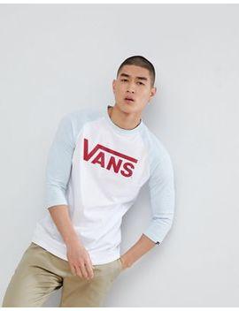 Vans Classic Raglan T Shirt In White V002 Qqyf7 by Vans