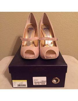 Hale Bob Mermaid Iridescent Bejeweled Peep Toe Pink Pumps Size 7.5 Women's Heels by Hale Bob