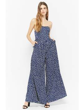 Polka Dot Strapless Jumpsuit by F21 Contemporary