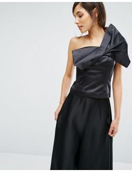 Oasis Satin Bow Detail Top by Oasis