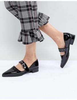 Monki Patent Pointed Flat Shoe by Monki