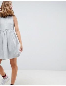 Asos Petite Sleeveless Button Smock Dress by Asos Design
