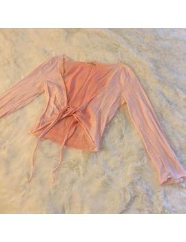 Velvet Pink/Peach Cropped Thin Cotton Stretch Cardigan Dance Ballet Sz Medium by Velvet