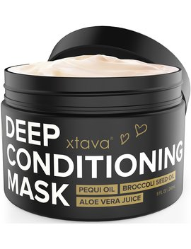 Xtava Deep Conditioning Mask Hair Treatment For Dry Damaged Hair 8 Fl.Oz   Nourishing Restorative Leave In Conditioner To Repair Split Ends And Damage   Hair Mask Hydrating Moisturizing Cream by Xtava