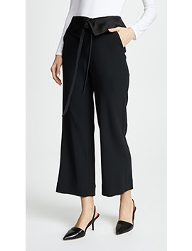 Deconstructed Satin Crepe Pants by Jonathan Simkhai