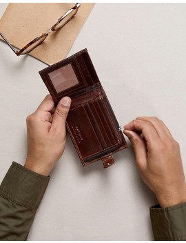 River Island Leather Wallet In Brown by River Island