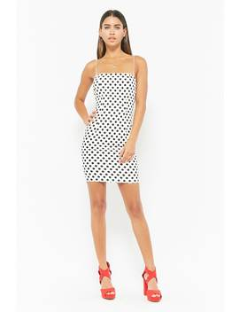 Polka Dot Mini Cami Dress by F21 Contemporary