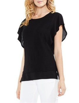 Ruffle Sleeve Top by Vince Camuto