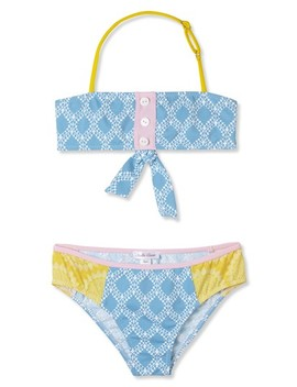 Mixed Print Two Piece Swimsuit by Stella Cove