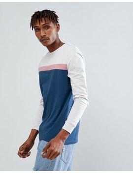 Asos – Langärmliges T Shirt Mit Einsatz Und Bund Im Farbblockdesign by Asos