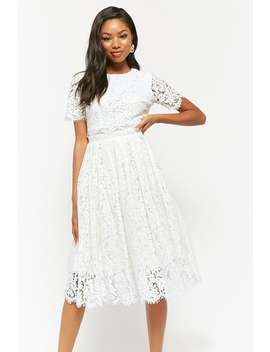 Layered Lace Midi Dress by Forever 21